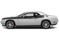 Vinyl Decal RT Side Stripes V2 Wrap Kit fits Dodge Challenger 08-16 Matte Black