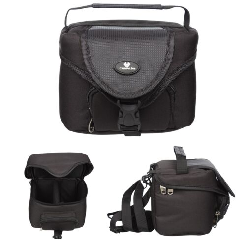Digital Camera Case for Bridge Compact Cameras Soulder Universal Belt Loop Black
