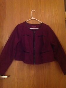 16 Størrelse London Boysenberry Jessica Denim Shrug Jacket XSnYq