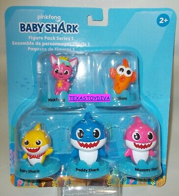WowWee Pinkfong Baby Shark Official 5-Figure Pack - Baby