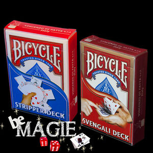 Lot jeux de cartes Bicycle SVENGALI + BISEAUTE