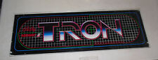 """TRON GLASS MIDWAY   ORIGINAL 23-7 3/4"""" vintage arcade game sign marquee  cF99"""