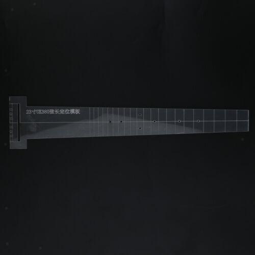 23 zoll transparente gitarre acryl position vorlage für luthier diy