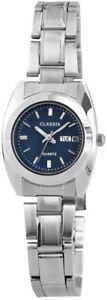 Classix-Damenuhr-Blau-Silber-Datum-amp-Tag-Analog-Metall-Quarz-XRP7132300001