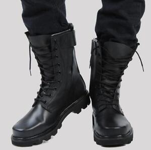 Mens Military Fur Lining Special Forces Steel Toe