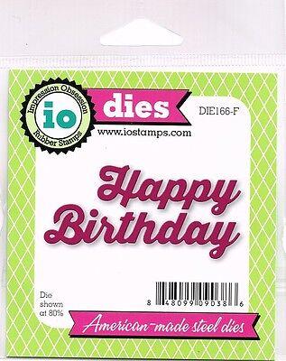 Impression Obsession Dies HAPPY BIRTHDAY Metal Cutting Die DIE166-F