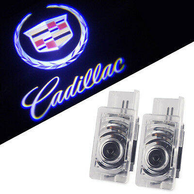 Crystal for Cadillac Srx Xts Except ATS Car LED Projector Door Ghost Shadow Welcome Logo Light