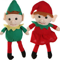 Christmas Santa Helper-elf Twins Shelf Doll-boy Girl Stuffed Plush Toy Pixie-set