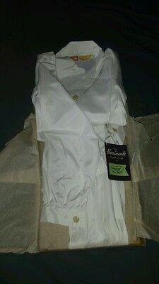 1958 Nuovo Con Scatola Vestito Bianco Plissettato D H Evans Oxford St Sw Harrimonde Terelyne-mostra Il Titolo Originale