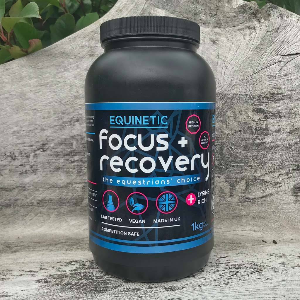 Equinetic Focus + Recovery horse supplement improves concentration & performance