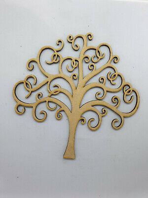 Árbol familiar Mdf Corte Láser de madera artesanal Árbol de Boda en Blanco 8