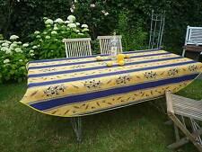 Tischdecke Provence 150x240 cm oval blau gelb Oliven Frankreich, pflegeleicht