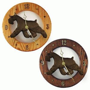 Schnauzer Wood Clock Wall Plaque Black Ebay