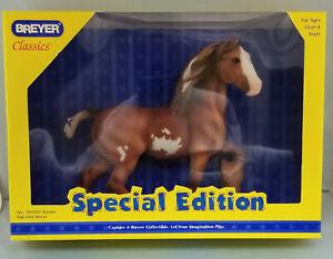 Breyer-703105-Tristan-Chestnut-Pinto-Draft-Horse-Shire-Classic-Model-SR-NIB