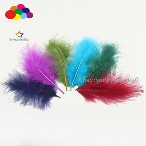 4-6 inch Turkey Feather DIY Craft Plumage Carnival 36 colour 100pcs 10-15cm