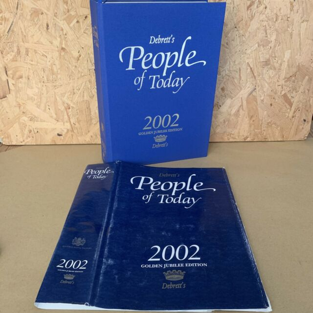Debrett's People of Today 2002 Hardback Book Golden Jubilee Edition