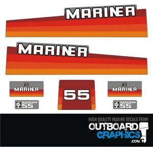 Mariner 25hp rainbow outboard engine decals//sticker kit