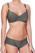 Freya Bikini Short Brief Glam Rock S M 10 12 14 Black Rose Gold Bottom 3844 New