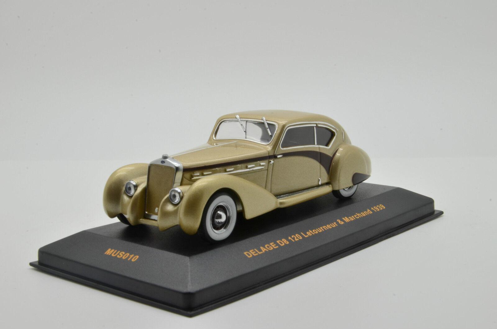 RARE    Delage D8 120 Letourneur  & Marchand 1939 IXO MUS 010 1 43  en soldes