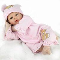 "22""Reborn Baby Dolls Soft Vinyl Silicone Baby Boy Doll Fake Babies Birthday Gift"
