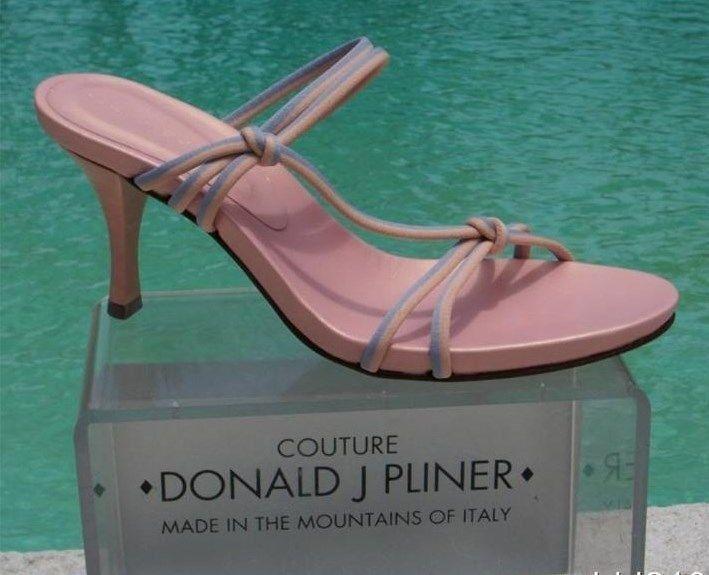 Donald Pliner Couture Mesh Elastic Leather shoes New Pink Lavender Signature  225