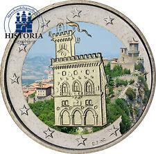 San Marino 2 Euro Gedenkmünze 2012 stgl. Wehrturm in Farbe