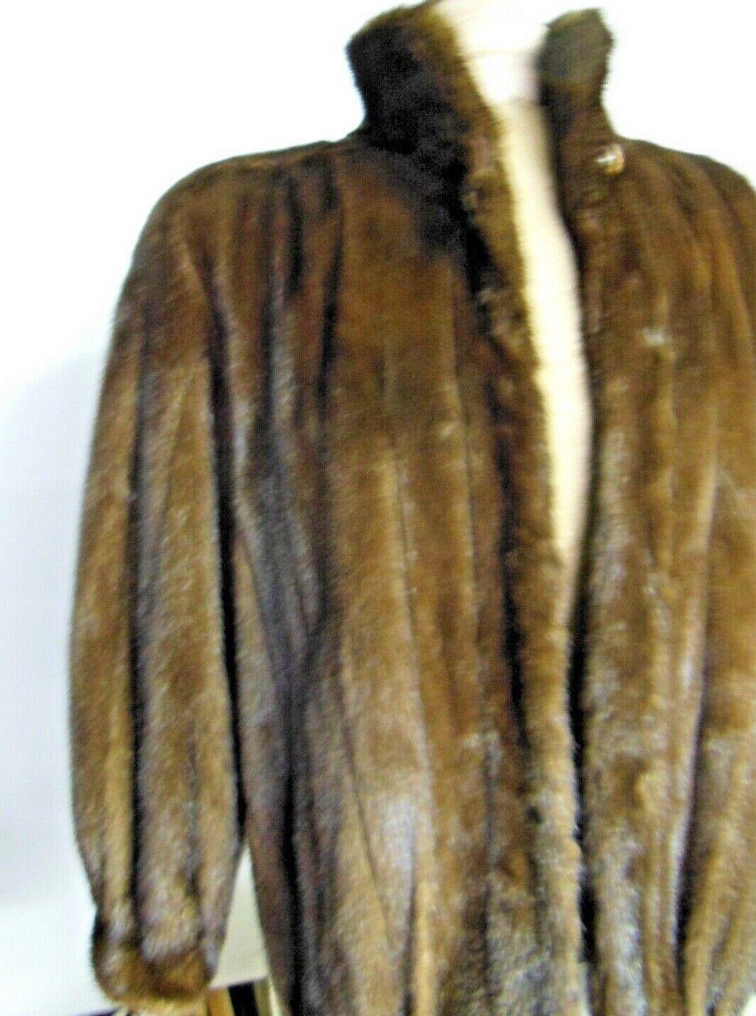 Women's MINK Coat Coat Coat Bomber Style Size S - M - L by Contino  Please Read bcf1c1