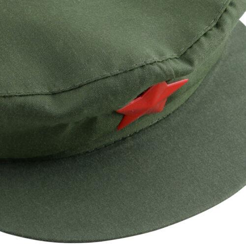 Unisex Kommunistischen Rote Armee Stern Baumwolle Hut Schlaegermuetze Partei Cap