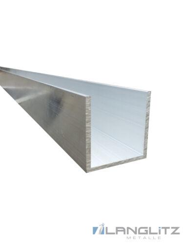 Alluminio U-Profile AlMgSi0,5 Aluprofil Modellismo U Profilo Schiene 50-300 CM