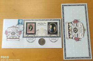 Malaysia 2012 Queen Diamond Jubilee Royal Visit MS stamp FDC inlaid QE II coin