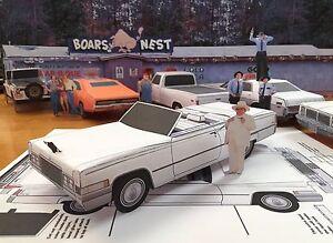 Details about Papercraft Dukes Of Hazzard Boss Hogg Cadillac top down paper  car 6 piece U-make