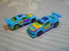2017 HOT WHEELS loose  = AMAZOOM = BLUE  - 2 CARS FOR A DOLLAR