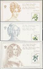 Belgien 1988 89-90 MNH ** Mi# Bl 57+59+60 Flora Blümen Pflanzen Flowers Rosen
