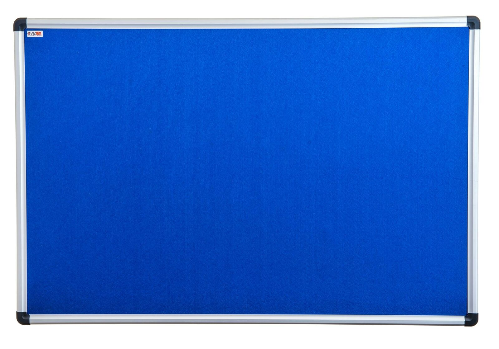 Floortex Viztex Fabric Bulletin Board 36in X 24in Aluminium Frame Fcvfbb3624a