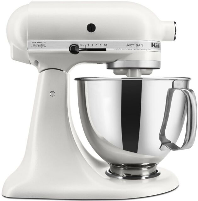 Superieur KitchenAid Stand Mixer Tilt 5 Quart Rrk150mr Artisan Matte Pearl White  Meringue