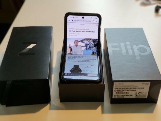 Samsung Galaxy Z Flip SM-F700F/DS - 256GB - Mirror Black (Ohne Simlock) (Dual SI