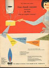 Publicité 1957  GAZ DE VILLE  l'eau chaude courante