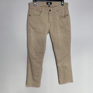 Paige 30 X 28 Beige Bronceado Pantalones Normandie Recta Jeans Para Hombre De Algodon Flex Usado En Excelente Condicion Ebay