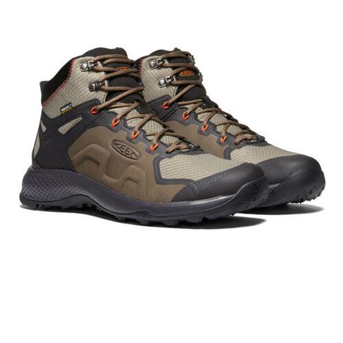 Keen Mens Explore Mid Waterproof Walking Boots Brown Sports Outdoors