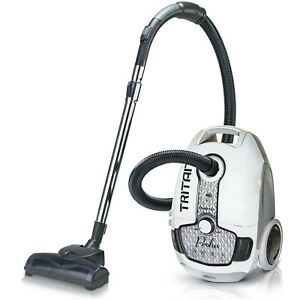 Certified Refurbished Prolux Tritan White Canister Vacuum Cleaner w/ HEPA Filter