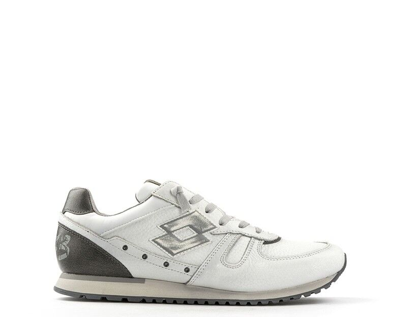 shoes LOTTO LEGGENDA Man Sneakers WHITE GREY Leather natural,Fabric Q8770S