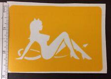 Sitting Devil Pinup Girl Design stencil for Airbrush Tattoo craft Art