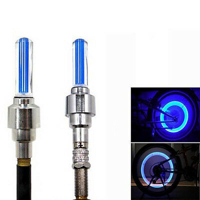 2 LED Lamp Flash Tyre Wheel Valve Cap Light For Car Bike Bicycle Motorcycle Blue