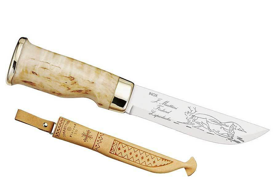 Marttiini Lappland-Messer, 10 Klinge 10 Lappland-Messer, cm, Birkenholz, Lederscheide, 180410 9a1735