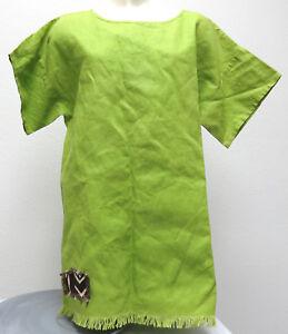 vtg-Muddwork-LIME-GREEN-PULLOVER-Ladies-One-Size-90s-Carmen-Buffin-dress-smock