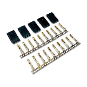 5 Stück Female Servo Stecker Vergoldet JST-SH Futaba Robbe kompatibel Crimp Pins