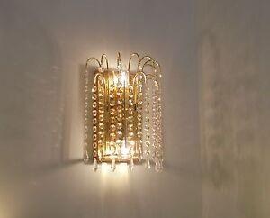 Applique parete classico oro lucido cristallo salone camera da letto
