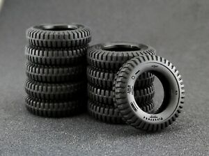 1/43 Tires set for Jeep Willys - 10 pcs Maestro Wheels scale 1:43