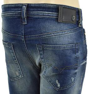 $228 Diesel jeans bleu délavé Buster 0833 F homme denim taille 32 nouvelle collection