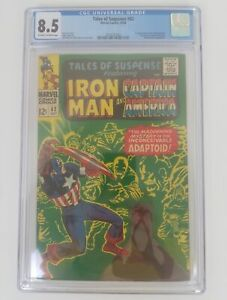 Tales-Of-Suspense-82-CGC-8-5-Iron-Man-amp-Capt-America-1st-Appearance-Adaptoid